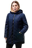 Женская куртка осень-весна Норма темно-синий (52-58)
