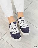 Стильные сине-белые женские кеды, фото 4