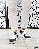 Стильные сине-белые женские кеды, фото 6