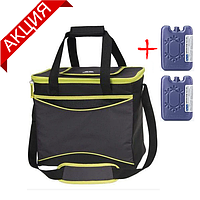 Термосумка Igloo Cool 36 на 22 л, цвет лайм (сумка-холодильник, изотермическая сумка для напитков и продуктов)