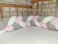 Бортик косичка в детскую кроватку 120см