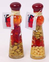 Декоративная бутылка с овощами, 16.7см, 3 вида BonaDi 131-034