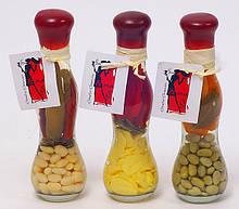 Декоративная бутылка с овощами, 16.8см, 3 вида BonaDi 131-036