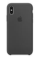 Silicone case Iphone X,XS,Grey серый Мягкий чехол iPhone XS Max
