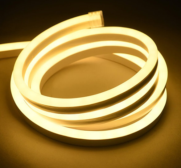 Світлодіодний неон теплий білий NEON 120WW2835-220V-12W/m IP65 6mm