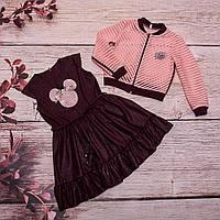 Детский летний костюм для девочки (платье и бомбе) от производителя. Хмельницкий