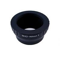 Адаптер переходник M42 - Nikon 1 J1, кольцо Ulata