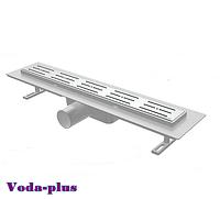 Душевой канал с решеткой из нержавеющей стали, с площядкой под керамическую плитку