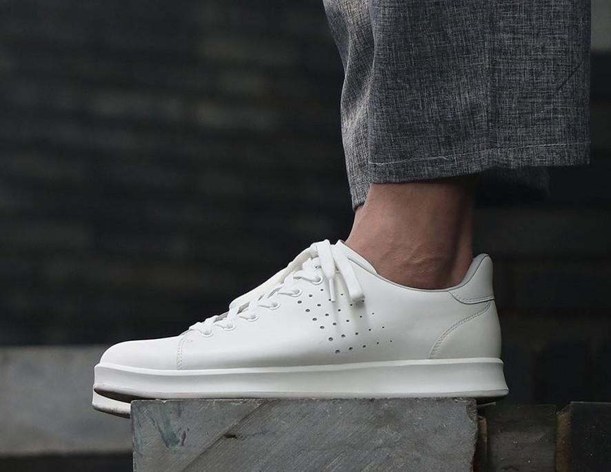 Кеды Xiaomi FreeTie Leather Shoes White белые