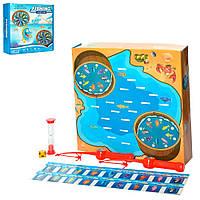 Настольная игра 5054 (36шт) Рыбалка, удочка 2шт, игровое поле, песочные часы,в кор-ке,29-28,5-8см Н