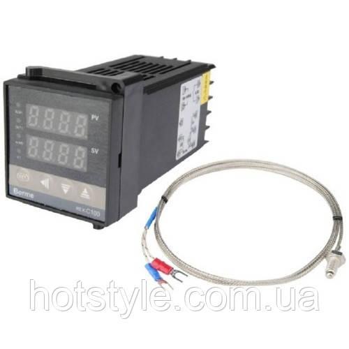 ПИД-терморегулятор REX-C100 +термопара, релейный выход, 103151