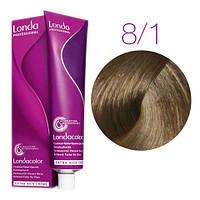 Крем-краска для волос Londa Color 8/1 светлый блонд пепельный  (стойкая крем-краска, 60 мл)