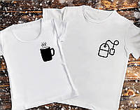 Парная футболка - Чашка с чайным пакетиком