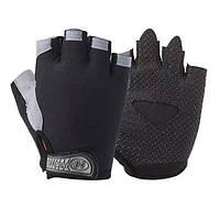 Велосипедные перчатки без пальцев Huwai черные, фото 1