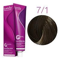 Краска для волос Londa Color 7/1 блонд пепельный  (стойкая крем-краска, 60 мл)