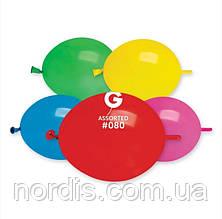 """Воздушные шары для моделирования. ассорти пастель. tet-a-tet линколун. 6"""" (16 см) Gemar-10 шт."""