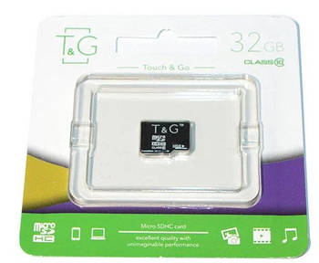 [ОПТ] Карта памяти micro SD T&G 32GB class 10 без адаптера