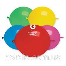 """Воздушные шары для моделирования ассорти пастель tet-a-tet линколун 13"""" (33 см) Gemar-10 шт."""