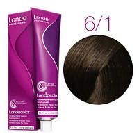 Краска для волос Londa Color 6/1 темный блонд пепельный (стойкая крем-краска, 60 мл)