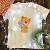 Мужская футболка с принтом - Мишка с мишкой