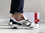 Мужские кроссовки New Balance 1500 ВЕЛИКОБРИТАНИЯ (бежево-белые с красным) 9110, фото 2