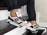 Мужские кроссовки New Balance 1500 ВЕЛИКОБРИТАНИЯ (бежево-белые с красным) 9110, фото 4