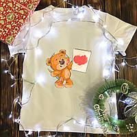 Мужская футболка с принтом - Мишка рисует