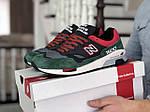 Мужские кроссовки New Balance 1500 ВЕЛИКОБРИТАНИЯ (черно-зеленые с красным) 9115, фото 2
