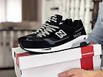 Мужские кроссовки New Balance 1500 ВЕЛИКОБРИТАНИЯ (черно-белые с серым) 9117, фото 2