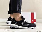 Мужские кроссовки New Balance 1500 ВЕЛИКОБРИТАНИЯ (черно-белые с серым) 9117, фото 3