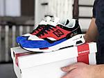 Мужские кроссовки New Balance 1500 ВЕЛИКОБРИТАНИЯ (красно-синие) 9121, фото 2