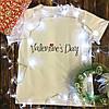 Мужская футболка с принтом - День Валентина