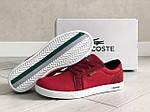 Чоловічі кросівки Lacoste (червоні) 9128, фото 2