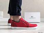 Чоловічі кросівки Lacoste (червоні) 9128, фото 5