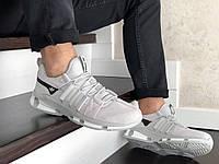 Мужские замшевые кроссовки Adidas (светло-серые) 9133