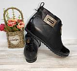 Ботинки из натуральной кожи женские 36,39 Kornllia черные арт 1032 ., фото 6