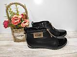 Ботинки из натуральной кожи женские 36,39 Kornllia черные арт 1032 ., фото 5