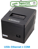 Для POSTER Чековый принтер Xprinter Q260III Ethernet + USB + COM авто обрез 80мм, фото 1