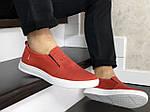 Мужские кеды Levis (красные) 9096, фото 4