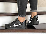 Женские кроссовки Nike Air Force (черно-белые) 9097, фото 4