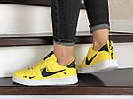 Женские кроссовки Nike Air Force (желтые) 9098, фото 2