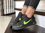 Жіночі кросівки Nike Air Force (чорно-салатові) 9099, фото 3
