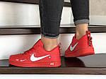 Женские кроссовки Nike Air Force (красные) 9100, фото 2