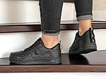 Женские кроссовки Nike Air Force (черные) 9101, фото 2