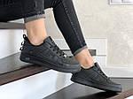 Женские кроссовки Nike Air Force (черные) 9101, фото 3