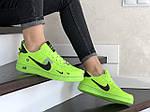 Женские кроссовки Nike Air Force (салатовые) 9102, фото 2