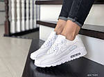 Жіночі кросівки Nike Air Max 90 (білі) 9104, фото 3