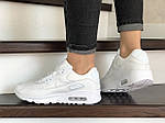 Женские кроссовки Nike Air Max 90 (белые) 9104, фото 4