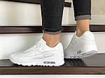 Жіночі кросівки Nike Air Max 90 (білі) 9104, фото 4