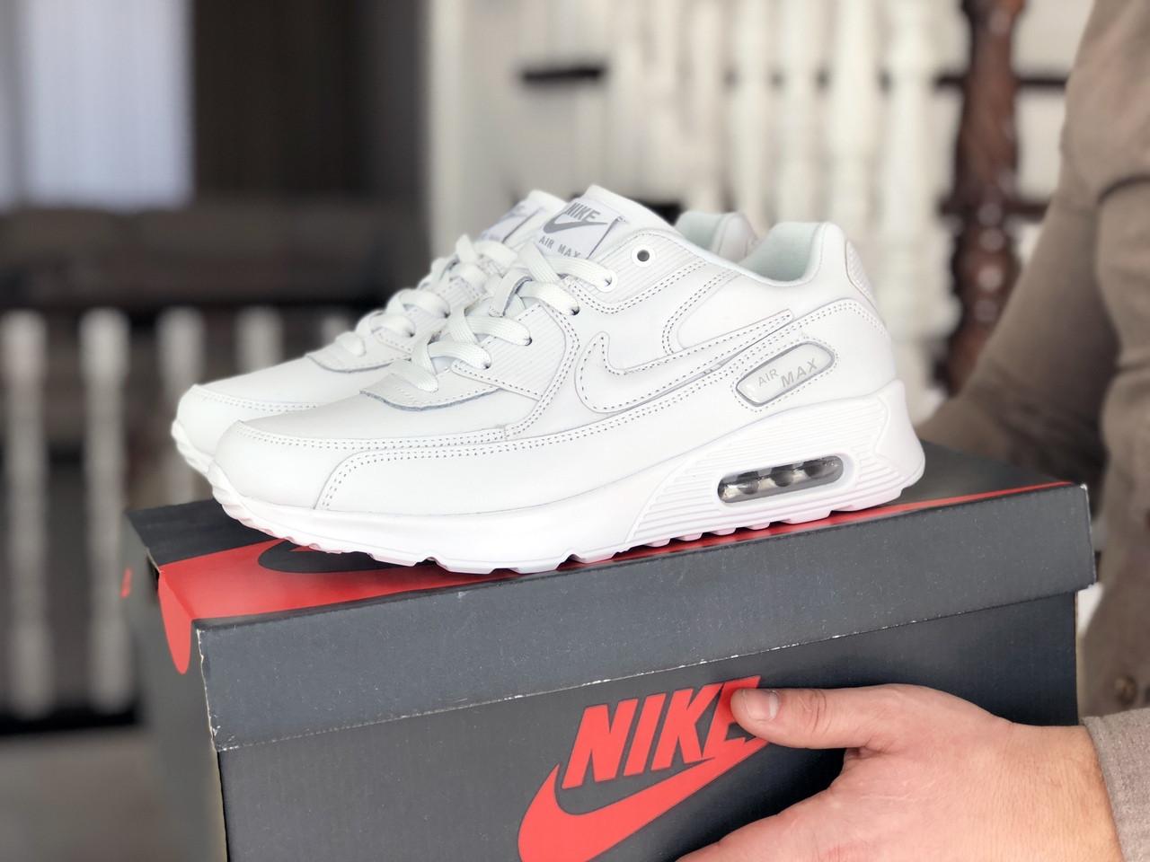 Мужские кроссовки Nike Air Max 90 (белые) 9106